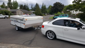 135i Towing Test Drive